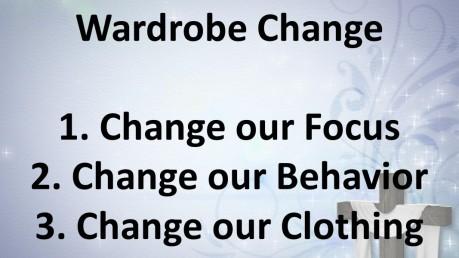 Wardrobe change